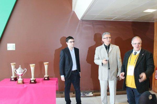 Avec Nadir Bounzou et André Rasneur, piliers de la Ligue IDF des Echecs
