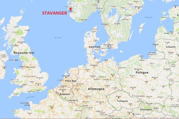 Stavanger sur la carte