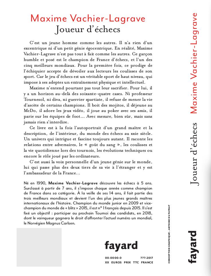 4e de couverture du livre de MVL