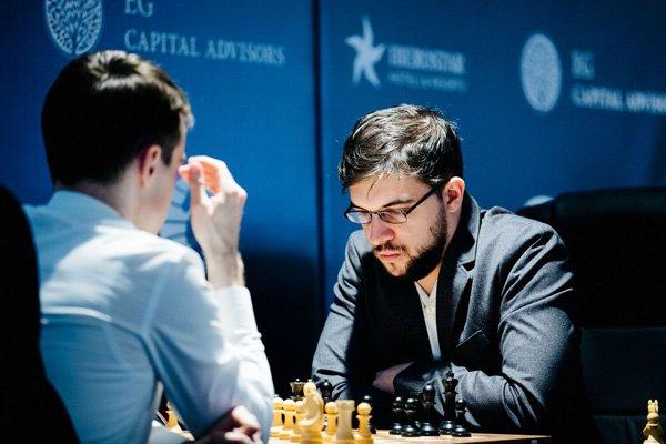 Quand Maxime comprend qu'Inarkiev ne prendra aucun risque (photo Agon)