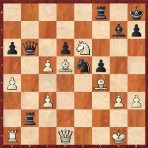 Mvl-Olafsson après 29.c5!, le début d'une séquence tactique haute en couleurs!