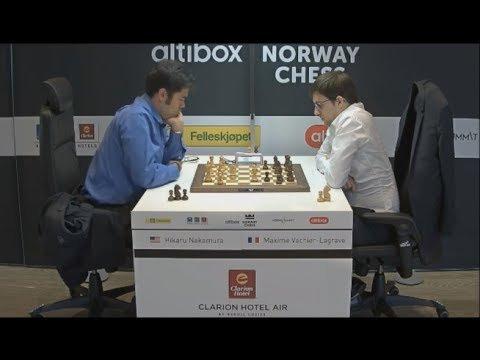 10 juin 2017; la dernière défaite de Maxime avec les noirs… (image Norway chess)