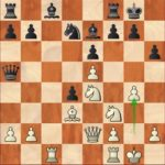 Aronian-Caruana, R7; 16.g4!? sacrificing a second pawn, a bold idea which will not pay off.