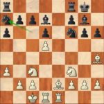 So-Caruana, R8; after the nice manoeuver 15…Na7-c8, it is black who is pressing.