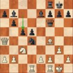Ding Liren-Caruana, R2; black emerges from the opening with a pawn and good play for the exchange, as well as a comfortable lead on the clock.