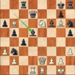 Ding Liren-Grischuk, R11; instead of 29.Nf4, 29.Nd8! would have sealed the fate of the black king.