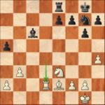 Kramnik-Grischuk, R1; in time trouble, Grischuk will go astray in this almost equal position.