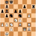 Karjakin-Mvl, Londres 2017; after 33…Rh4!, Black has a clear advantage.