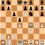 Mvl-Ding Liren, Memorial Alekhine 2013 ; after 8.Bf4, a risky opening for Black !