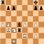 Mvl-Kramnik, Norway Chess 2017; Black avoids 28…Bxc3 which forced the draw, and will end up losing.