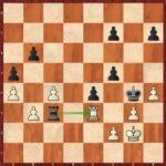 Brethes-Mvl, Romans 1999 ; pas si facile de calculer les transitions en finale de pions à 8 ans. Ici, j'y parviens parfaitement : 37…Txe3! 38.fxe3 h5 39.b4 axb4 40.a5 b3 41.a6 b2 42.a7 b1=D 43.a8=D Dc2+ 44.Rg1 Rf3! 0-1.