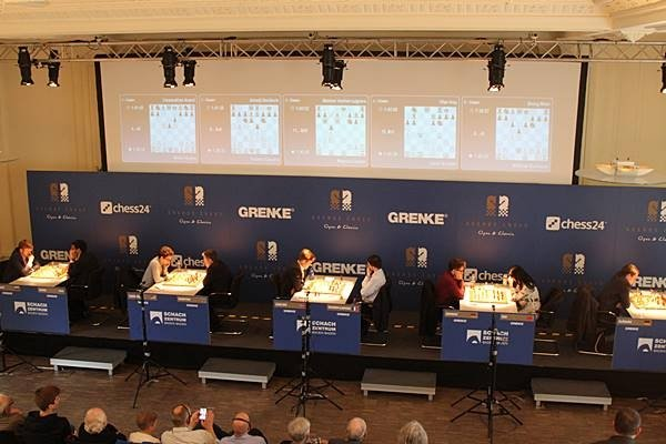 La scène du Grenke Classic à Baden-Baden (photo Grenke chess).