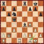 17.Ff1!?, une tentative peu orthodoxe de garder la paire de Fous.