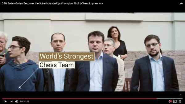 With Etienne Bacrot, two frenchies in the world's strongest chess team… (Video: Baden-Baden).