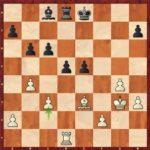 Après 28.c3!, trois pions blancs en maîtrisent quatre.