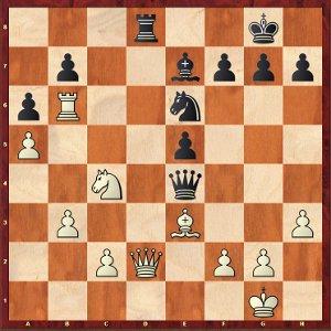 Anand-Mvl, round 6; white is under pressure.