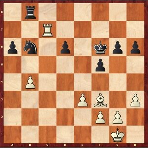 Grischuk-Mvl, round 17; white has a huge advantage in the endgame.