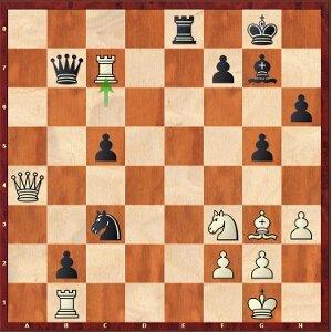 Mamedyarov-Mvl, round 15; 28…Qb8 or 28…Nxa4?.