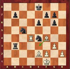 Mvl-Aronian, round 17; despite being two pawns down, white's Bishop pair will narrowly hold the position up.