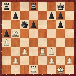 Mvl-Aronian, ronde 14 ; 23.Ted3 était le plus simple.