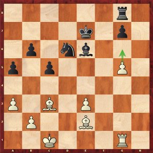 Mvl-Aronian, round 9; with the white pawn on g6, black must solve problems.