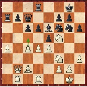 Mvl-Caruana, round 11; 29.c5? isn't a very good idea.