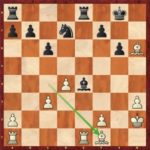 Mvl-Caruana, ronde 3; après 21.Ff1, une position que Maxime avait vue à la maison.