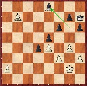 Après 42…Fe8, ce sont les noirs qui jouent pour le gain !