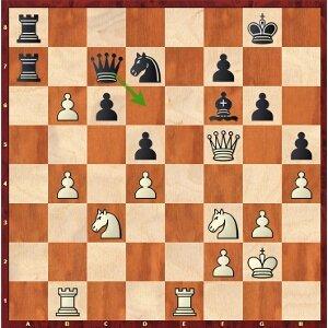 Mvl-Karjakin, round 16; 22…Qd6! a tempo!