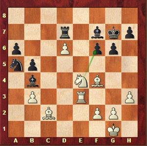 Mvl-Mamedyarov, ronde 23 ; Maxime veut plus que la nulle et évite 30.Cxf6.