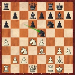Nakamura-Mvl, round 13; 11…Ne5 sets a trap.