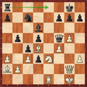 Nakamura-Mvl, round 5; 26…Re8!, a remarkable Queen sacrifice!