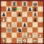 So-Mvl, ronde 8; 31…Dc7 force une bonne finale après les échanges massifs en d3, mais peut-être pas suffisante pour gagner.