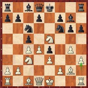 Mamedyarov-Mvl, ronde 3 ; 9.h3!, une nouveauté à l'apparence anodine, mais qui contient de nombreuses idées cachées.