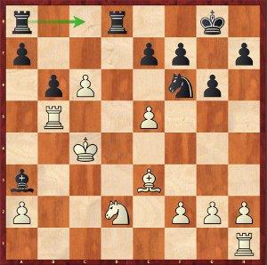 Navara-Mvl, ronde 4 ; 21…Tac8, un coup esthétique qui force la nulle.