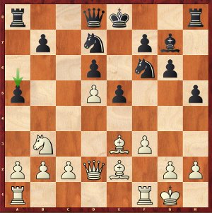 Carlsen-Mvl, round 7; 13…a5, an on-the-board impro from Maxime.