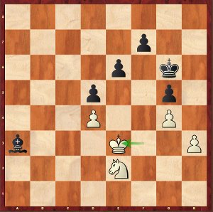 Caruana-Mvl, Round 15; not so simple for black, but he will make it.