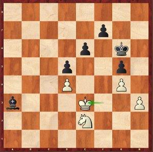 Caruana-Mvl, Ronde 15 ; pas si simple pour les noirs, mais ça va passer.