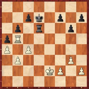 Dominguez-Mvl, Game 4; on the theme of the trapped Rook.