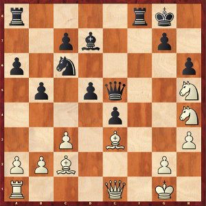 Mamedyarov-Mvl, round 8; an highly complex position.