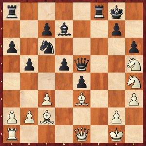 Mamedyarov-Mvl, ronde 8 ; une position d'une grande complexité.