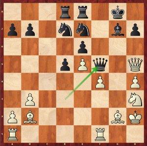 Mamedyarov-Mvl, Ronde 14 ; 26.Ff3, un ouf de soulagement.