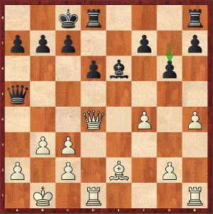 Mvl-Caruana, Round 5; white's edge is microscopic.