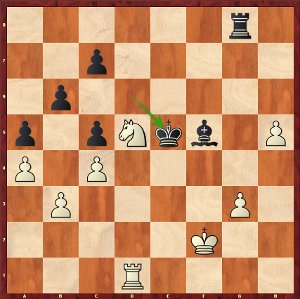 Mvl-Dominguez, Round 21; white's winning task should be easy.