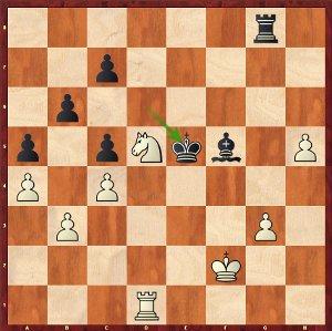 Mvl-Dominguez, Ronde 21 ; normalement, le gain blanc est facile.
