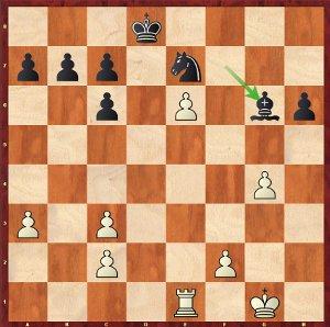 Mvl-Karjakin, Ronde 9 ; les blancs sont mieux.