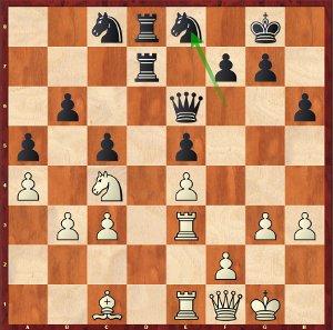 Mvl-Karjakin, Round 16; 26…Ne8?! was inaccurate.