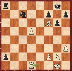 Mvl-Nakamura, Ronde 18 ; 39…Cxd5 force une nulle immédiate, mais les noirs avaient mieux.