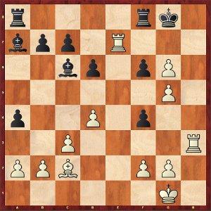 Mvl-Navara ; après 28.fxg6, un joli clin d'œil à la partie contre Carlsen !