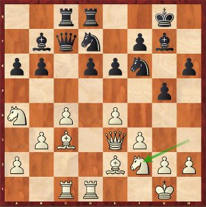 Nakamura-Mvl, Ronde 7; 20…Cc5, une mauvaise décision.
